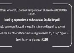 La soirée autour de Hors Cadre aura lieu lundi 19 au Studio Raspail